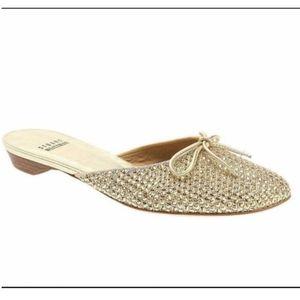 🌻Stuart Weitzman Shoes | Gold Rhinestone Slides